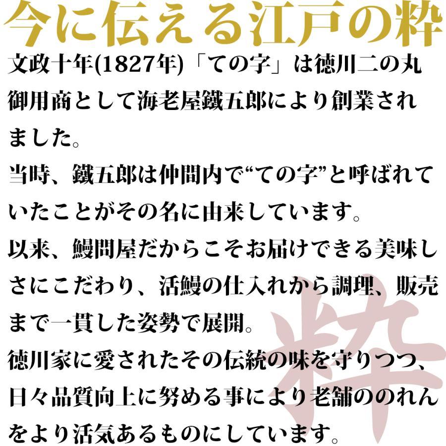 うなぎ 鰻 国産 蒲焼 ギフト プレゼント 100g×3セット ての字 化粧箱入り|tenoji|04