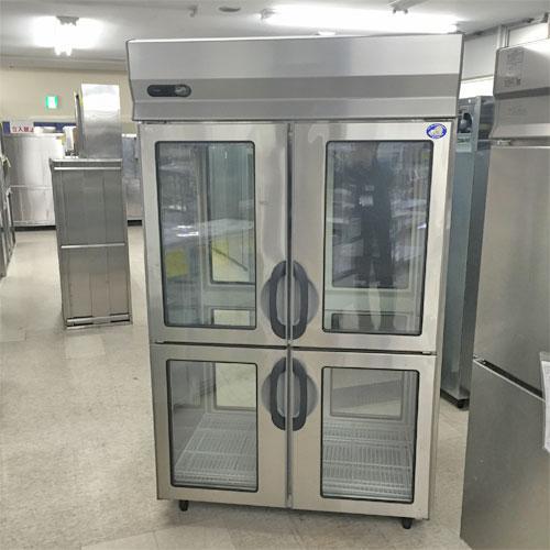 パススルーガラス扉縦型冷蔵庫 サンヨー SRR-FR1281AD 業務用 中古/送料別途見積 幅1200×奥行800×高さ1890
