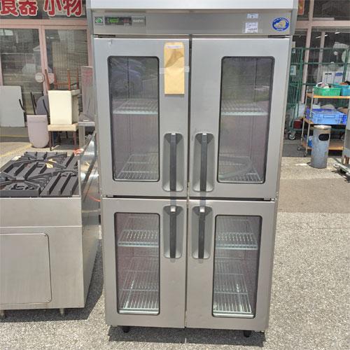 4ドア縦型冷蔵庫(改) SANYO SRR-J981VS 業務用 中古/送料別途見積 幅900×奥行800×高さ1950
