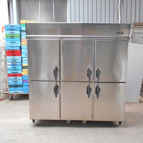 6ドア縦型冷蔵庫 大和冷機 603CD-EC 業務用 中古/送料別途見積 幅1800×奥行800×高さ1905