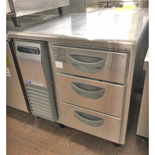 《大幅値下》冷凍ドロワーコールドテーブル 福島工業(フクシマ) TDW-253 業務用 中古/送料無料 幅770×奥行750×高さ800