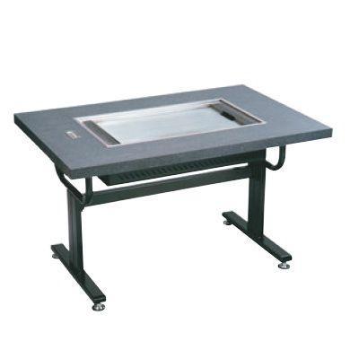 お好み焼き用テーブル お好み焼ロースターちょっと熱くナイス洋卓 HHN-6036D 石目グレー 13A /送料別