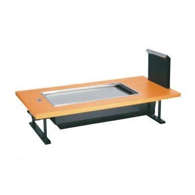 お好み焼き用テーブル お好み焼ロースター 熱くナイス 熱くナイス 和卓 SOC-8040ED 木目ベージュ LP /送料別