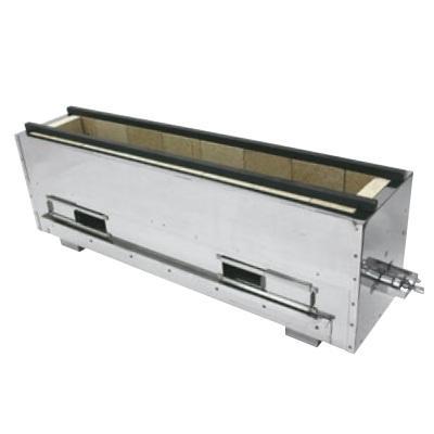 コンロ 耐火レンガ木炭コンロバーナー付(組立式)NST-12022B 13A /送料別 幅1315×奥行225×高さ300
