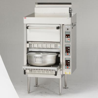 炊飯器 業務用 CRA-100NS-PS コメットカトウ ガス式低輻射タイプ 幅780×奥行740×高さ1530 送料無料