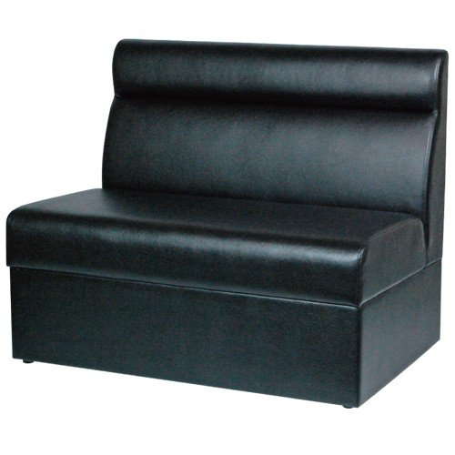 ボックスソファー 椅子 イス いす 業務用 黒 ブラックレザー ブラックレザー W900