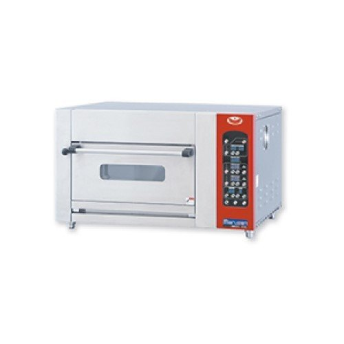 ベーカリーミニデッキオーブン 業務用 MBDO-D5 MARUZEN マルゼン 炉床石板 加湿装置付き 送料無料 幅900×奥行800×高さ550