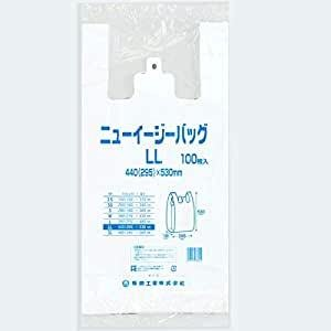 【100枚】レジ袋 LL 乳白 440×530mm 100枚 福助工業 ニューイージーバッグ LL 乳白|tenpoyouhinshop