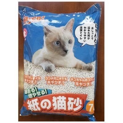 特売 送料無料・同梱、目隠し不可 イデ紙業 Catch! 固まる! 燃やせる! 紙の猫砂42L(7L×6袋セット) 猫用 トイレ砂 紙製 消臭 国産|tepec|05