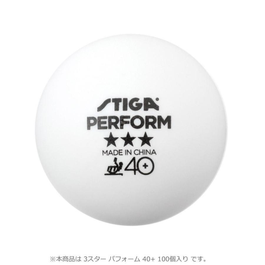 同梱・代引不可1113-2210-10 卓球ボール 3スター パフォーム 40+ 100個入