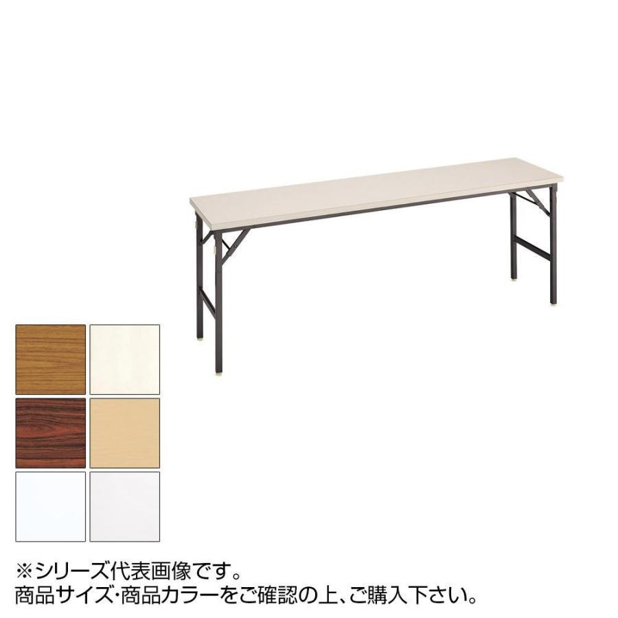 同梱・代引不可トーカイスクリーン 折り畳み会議テーブル クランク式 共縁 棚なし YT-155N