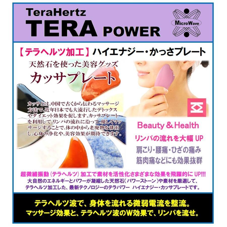 テラパワー ハイエナジー カッサプレート マッサージ テラヘルツ鉱石 天然石  黒水牛角  フェイス リンパ マッサージ スキン ケア 顔 足 腕 背中|terapower