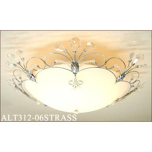 シャンデリアスワロフスキー&クローム6灯用シーリングライト [白熱灯][6〜8畳]ALT312-06STRASS