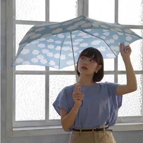 【最安値(送料込価格)に挑戦】 【晴雨兼用傘】  nifty colors(ニフティカラーズ) 折りたたみ傘 軽量  ひつじ曇 55センチ UVカット teruruya 02