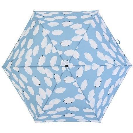 【最安値(送料込価格)に挑戦】 【晴雨兼用傘】  nifty colors(ニフティカラーズ) 折りたたみ傘 軽量  ひつじ曇 55センチ UVカット teruruya 04