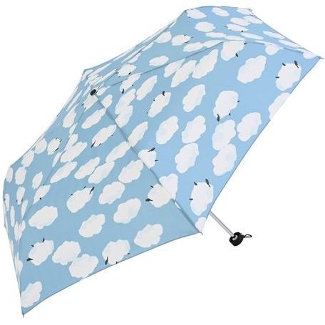【最安値(送料込価格)に挑戦】 【晴雨兼用傘】  nifty colors(ニフティカラーズ) 折りたたみ傘 軽量  ひつじ曇 55センチ UVカット teruruya 11