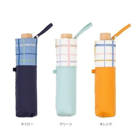 【最安値に挑戦】 【晴雨兼用傘】  because(ビコーズ) 折りたたみ傘 軽量 チェック刺繍 UVカット率95%以上 teruruya 02