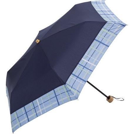 【最安値に挑戦】 【晴雨兼用傘】  because(ビコーズ) 折りたたみ傘 軽量 チェック刺繍 UVカット率95%以上 teruruya 05
