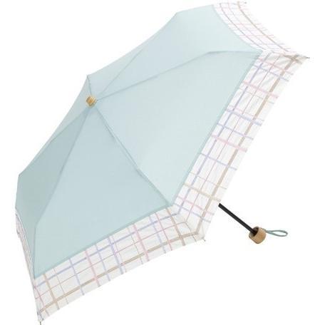 【最安値に挑戦】 【晴雨兼用傘】  because(ビコーズ) 折りたたみ傘 軽量 チェック刺繍 UVカット率95%以上 teruruya 06