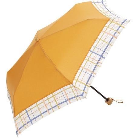 【最安値に挑戦】 【晴雨兼用傘】  because(ビコーズ) 折りたたみ傘 軽量 チェック刺繍 UVカット率95%以上 teruruya 07