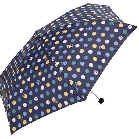 【晴雨兼用傘】  because(ビコーズ) 折りたたみ傘 軽量  子供 ビニールポーチ スマイル ドット UVカット|teruruya|07
