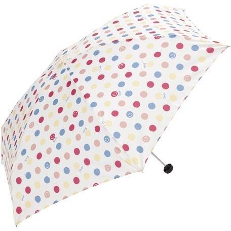 【晴雨兼用傘】  because(ビコーズ) 折りたたみ傘 軽量  子供 ビニールポーチ スマイル ドット UVカット|teruruya|08
