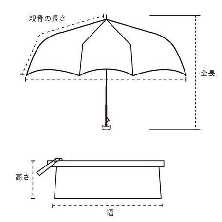 【晴雨兼用傘】  because(ビコーズ) 折りたたみ傘 軽量  子供 ビニールポーチ スマイル ドット UVカット|teruruya|05