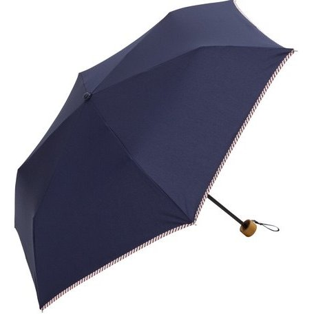 傘 レディース おしゃれ 折りたたみ傘 軽量 晴雨兼用 ブランド かわいい UVカット ストライプ パイピング because ビコーズ teruruya 05