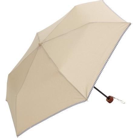 傘 レディース おしゃれ 折りたたみ傘 軽量 晴雨兼用 ブランド かわいい UVカット ストライプ パイピング because ビコーズ teruruya 06
