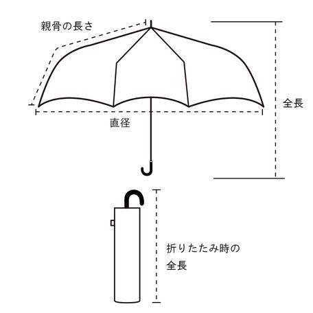 傘 レディース おしゃれ 折りたたみ傘 軽量 晴雨兼用 ブランド かわいい UVカット ストライプ パイピング because ビコーズ teruruya 02