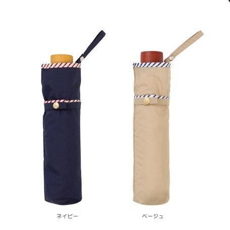 傘 レディース おしゃれ 折りたたみ傘 軽量 晴雨兼用 ブランド かわいい UVカット ストライプ パイピング because ビコーズ teruruya 03