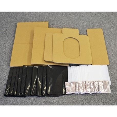 【組立式緊急簡易トイレ】 1セット 凝固剤10コ、汚物袋10枚、処理袋10枚付き 防災グッズ|teruruya|05