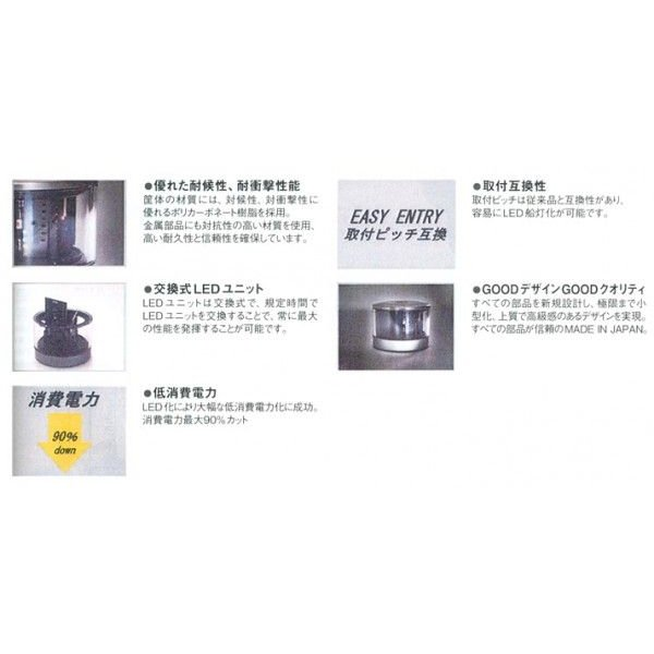 LED航海灯 両色灯(伊吹工業社製/第2種)|teshimamarine|02