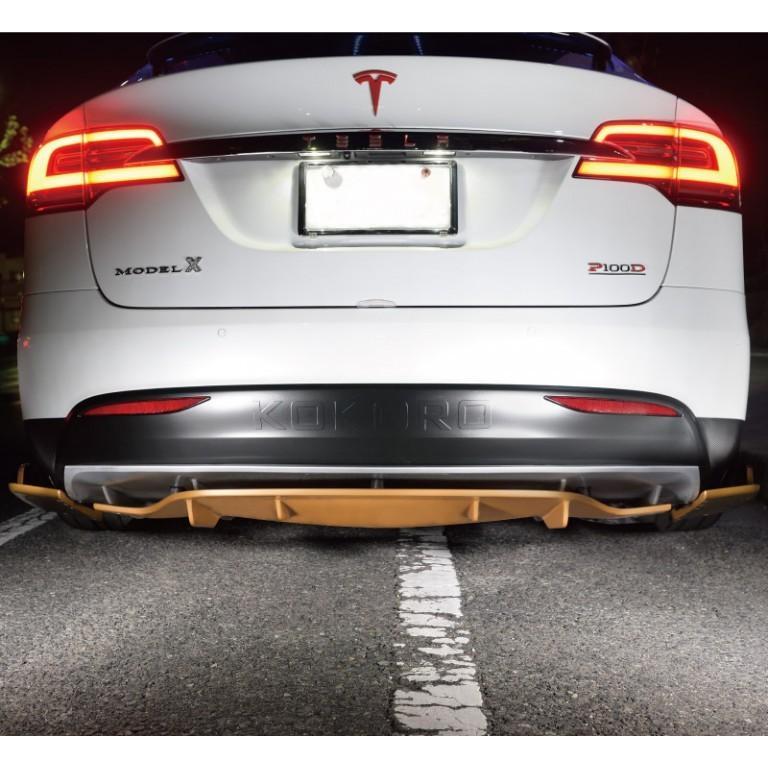 【HeartUpWorld】KOKORO/Tesla Modelx custom parts/Rear Bumper Spoiler tesla-parts