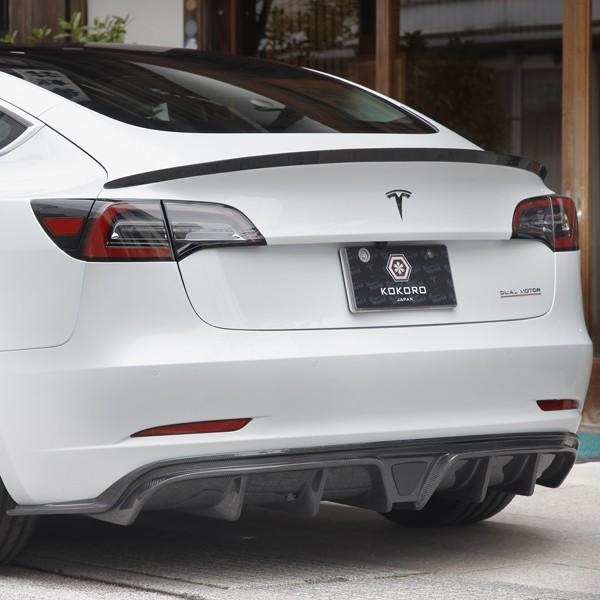 【HeartUpWorld】KOKORO/Tesla Model3 custom parts/Rear Bumper Spoiler|tesla-parts