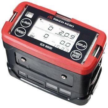 ポータブルガスモニター MODEL GX-8000A (リチウムイオン電池仕様) ※標準構成品:ガス採取チューブ(1m)、浮子8mチューブ、アルミケース