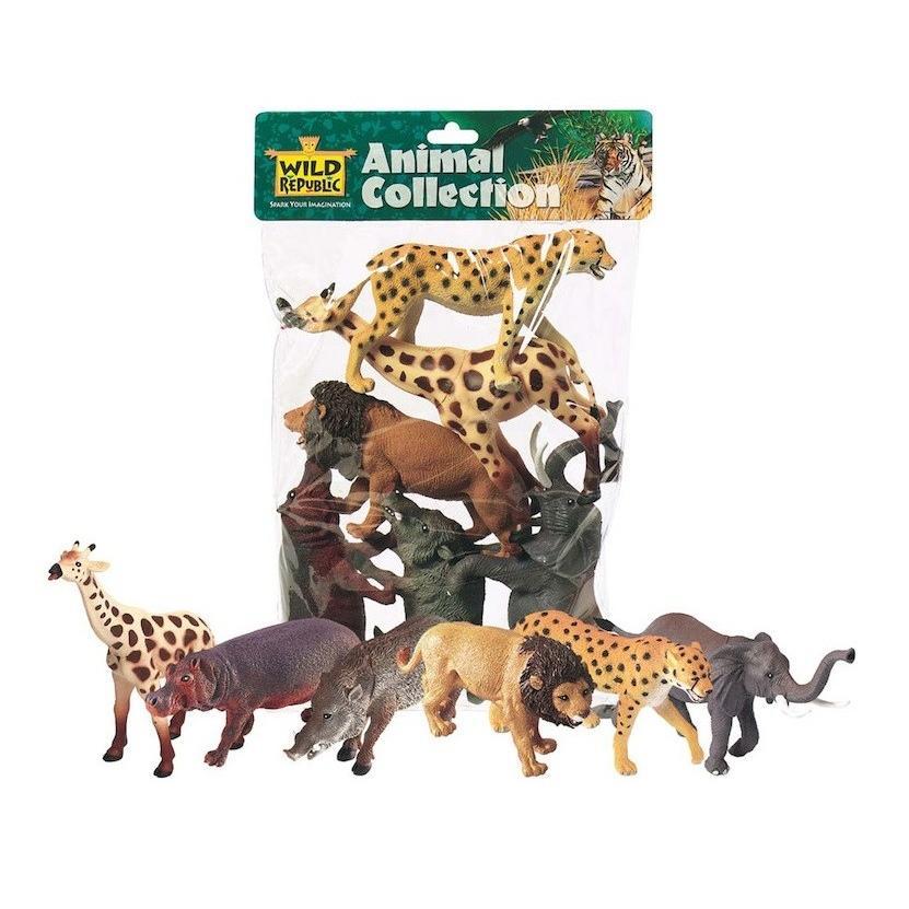 アフリカン 動物 フィギュア セット ポリバッグコレクション 64003|tf-shizukuya