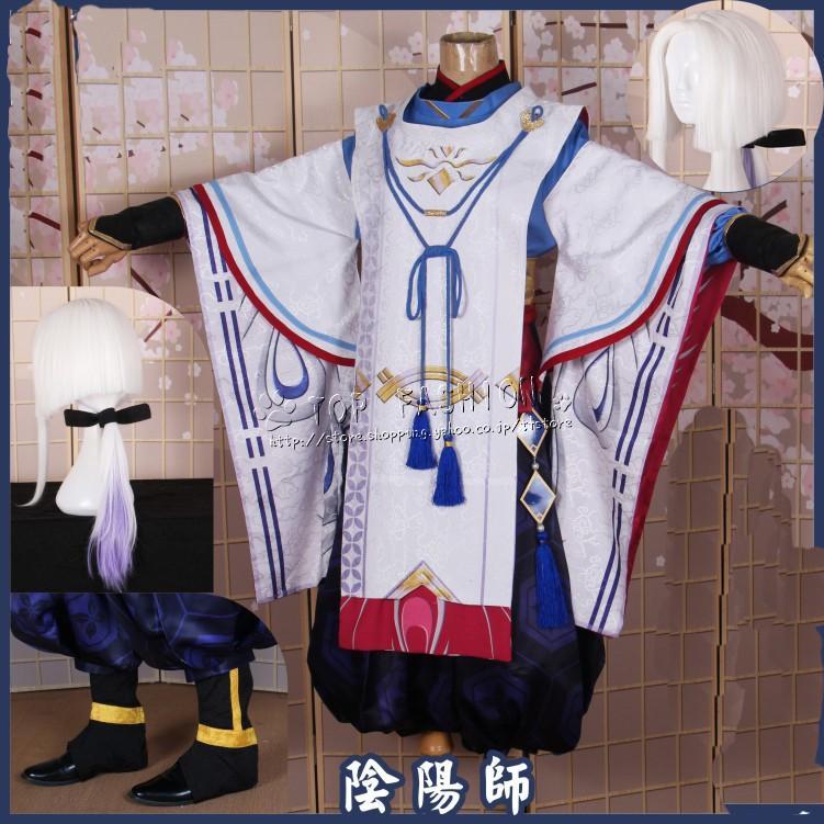 送料無料陰陽師風 少年晴明 少時之約 着物 舞台衣装コスプレ衣装ウィッグ道具cosplay コスチューム セットアップ レディース 大人 仮装 変装