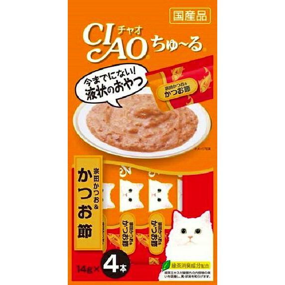 (48個セット)いなば チャオ ちゅ·る 宗田かつお&かつお節 14g×4本 CIAO ちゅーる 猫 おやつ まとめ買い