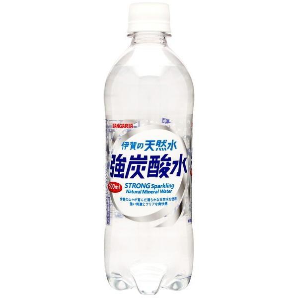 サンガリア 伊賀の天然水強炭酸水 500ml まとめ買い(×24)|the-fuji-food