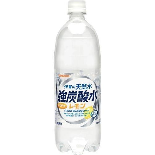 サンガリア 伊賀の天然水強炭酸水レモン 1000ml まとめ買い(×12)|the-fuji-food
