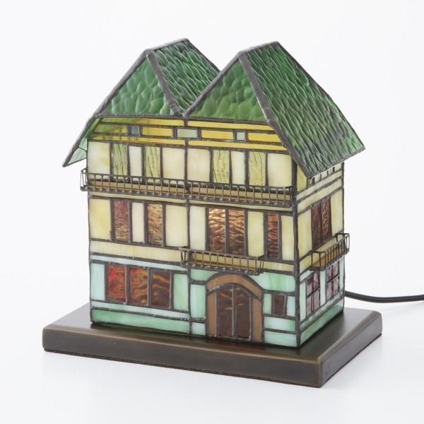 ステンドグラス ランプ テーブルランプ ライトハウス コペンハーゲンファームハウス タッチセンサー