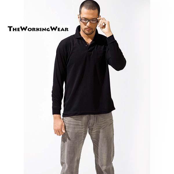 ポロシャツ 長袖 作業服 作業着 通年用 2020-15 ポケット付 カットソー ユニフォーム 安い ネーム入れ可 S M L LL 3L 4L 5L|the-workingwear|14