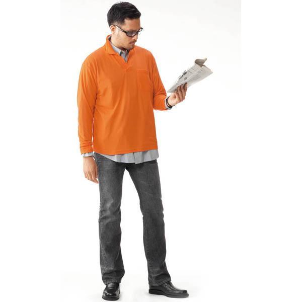 ポロシャツ 長袖 作業服 作業着 通年用 2020-15 ポケット付 カットソー ユニフォーム 安い ネーム入れ可 S M L LL 3L 4L 5L|the-workingwear|15