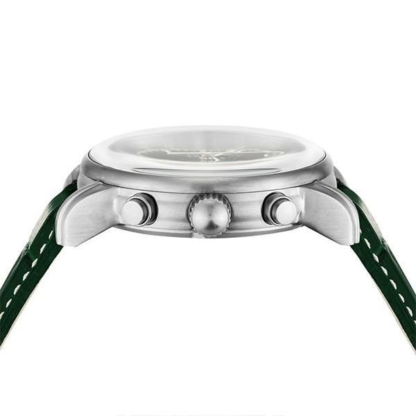 ツェッペリン LZ1 100周年記念 8680-4 メンズ 腕時計 クオーツ グリーン 革ベルト クロノグラフ アラーム theclockhouse-y 06