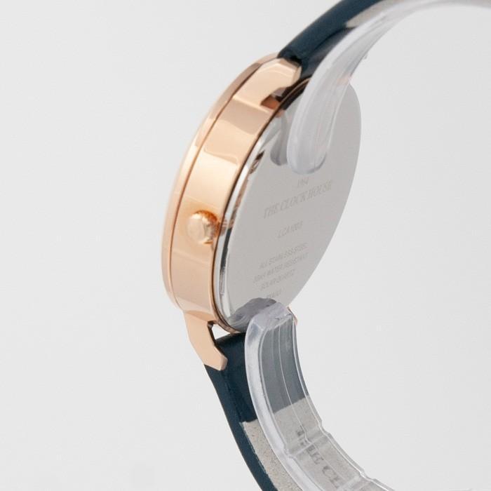 ザ・クロックハウス カジュアルスタイル LCA1003-NV1B レディース 腕時計 ソーラー 革ベルト ネイビー シンプル ミニマル 雑誌掲載 着用モデル theclockhouse-y 04