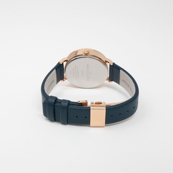 ザ・クロックハウス カジュアルスタイル LCA1003-NV1B レディース 腕時計 ソーラー 革ベルト ネイビー シンプル ミニマル 雑誌掲載 着用モデル theclockhouse-y 06