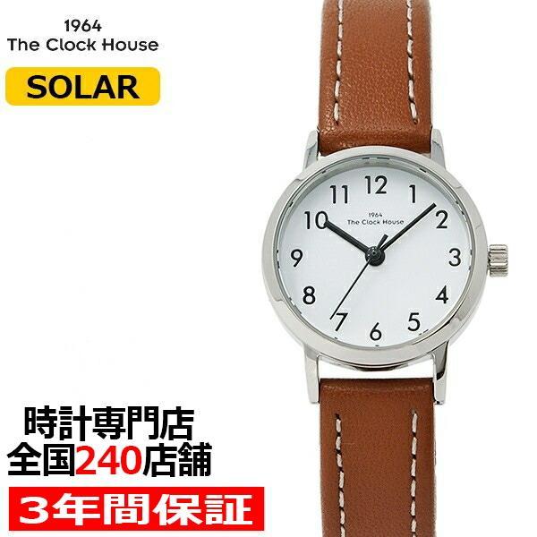 ザ・クロックハウス ナチュラルカジュアル LNC1001-WH2B レディース 腕時計 ソーラー 革ベルト ブラウン ホワイト|theclockhouse-y