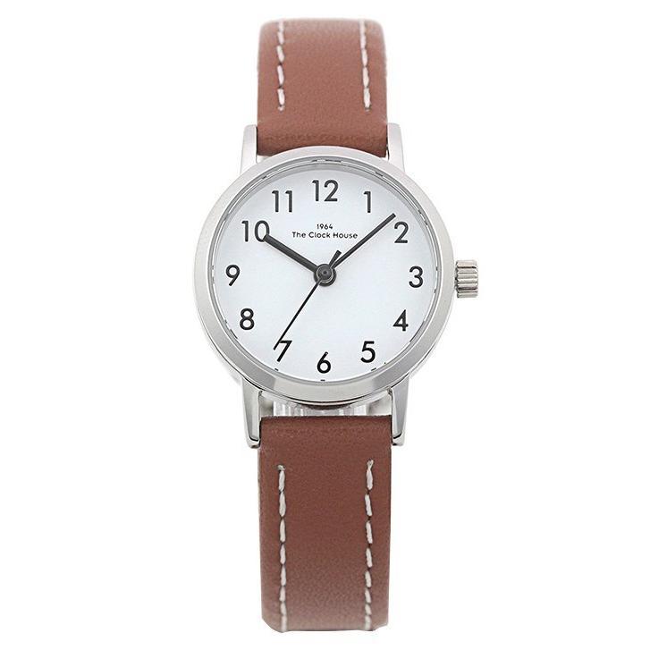 ザ・クロックハウス ナチュラルカジュアル LNC1001-WH2B レディース 腕時計 ソーラー 革ベルト ブラウン ホワイト|theclockhouse-y|02