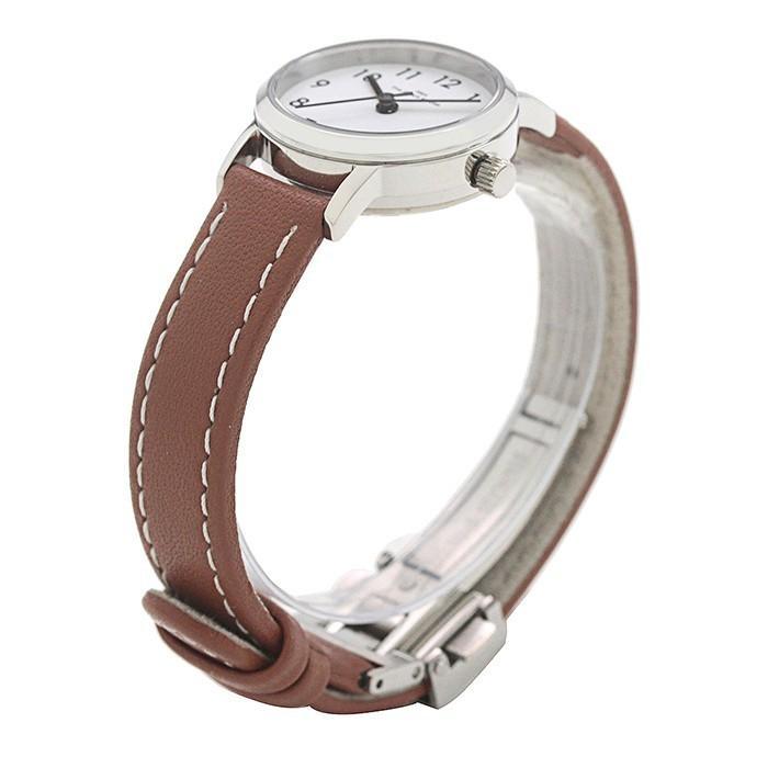 ザ・クロックハウス ナチュラルカジュアル LNC1001-WH2B レディース 腕時計 ソーラー 革ベルト ブラウン ホワイト|theclockhouse-y|03